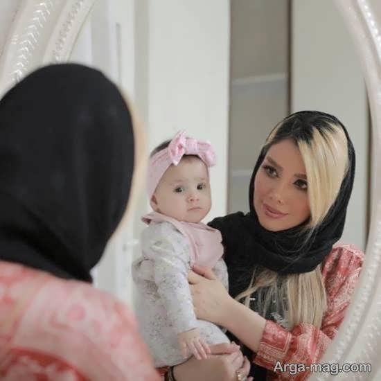 آرزو غفوریان همسر مهران غفوریان به همراه دختر بانمکش
