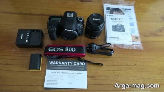 جعبه گشایی دوربین کانن 80D