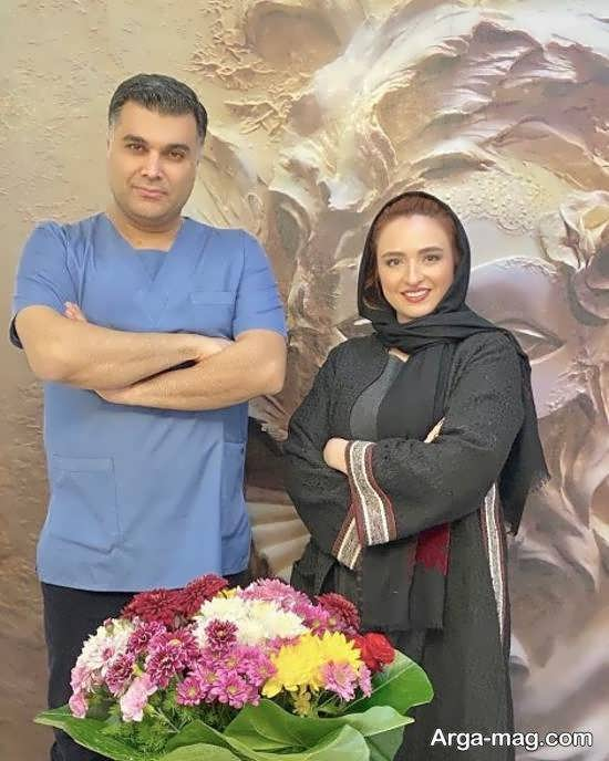 تصویر منتشر شده از گلاره عباسی و دکتر زیبایی اش