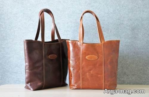 کیف دستی زنانه چرم دست دوز