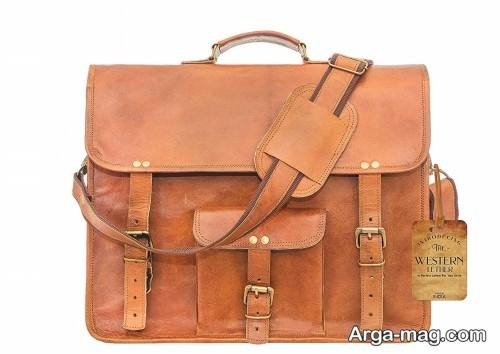 کیف چرم رنگ روشن