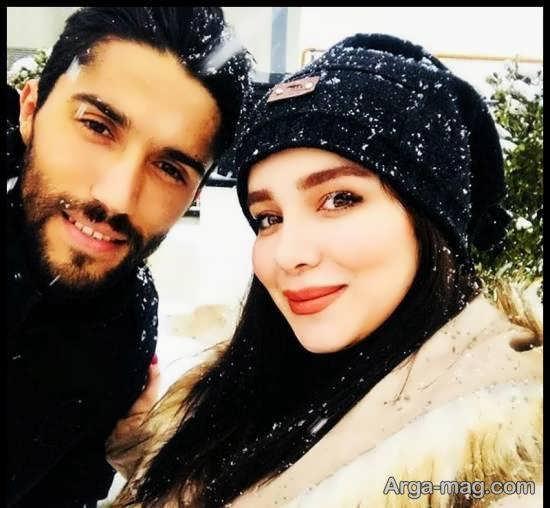 چهره ی متفاوت حسین حسینی دروازه بان استقالال در کنار همسرش