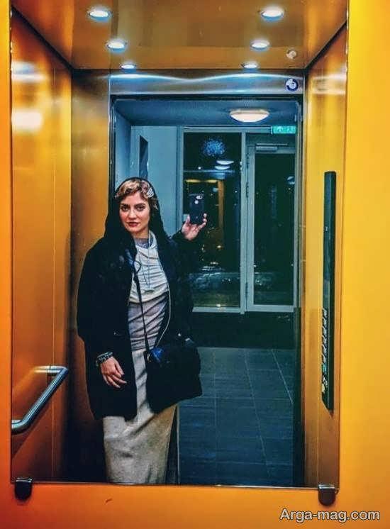 انتشار عکس سلفی مهناز افشار در آسانسور با استایل لاکچری