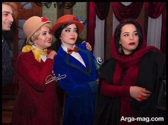 ملیکا شریفی نیا در اجرای نمایش موزیکال مری پایینز