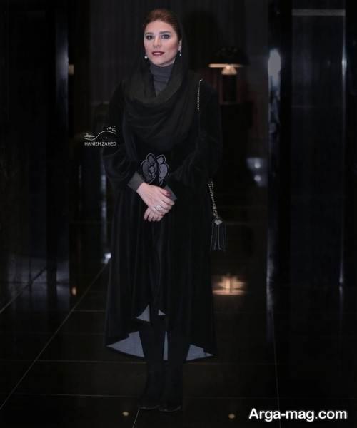 مدل مانتوی مشکی سحر دولتشاهی