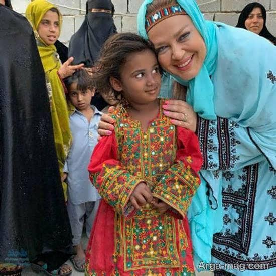 سوژه شدن بهاره رهنما به خاطر عکس منتشر شده اش در کنار دختربچه سیستانی