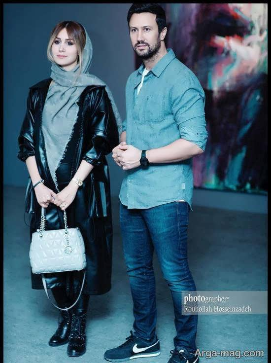 عکس های جالبی از شاهرخ استخری و همسرش در نمایشگاه