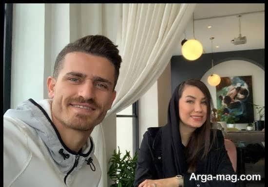 وریا غفوری کاپیتان استقلال به همراه همسرش مونا اردلان