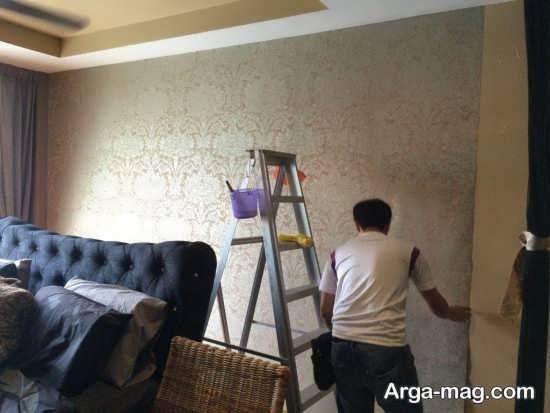 نحوه اجرای کاغذ دیواری بر روی دیوار
