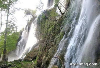 آبشار آبسرده در چهار محال بختیاری می باشد