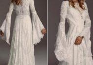 لباس عروس آستین کلوش