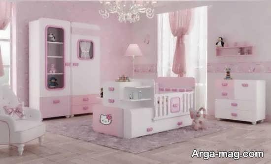 مدل زیبای سرویس خواب نوزادن