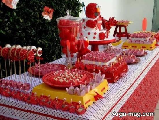 تزیین زیبای میز تولد