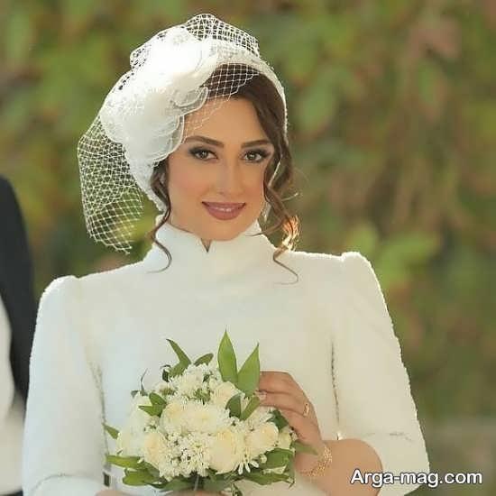 کلاه حجاب عروس+عکس
