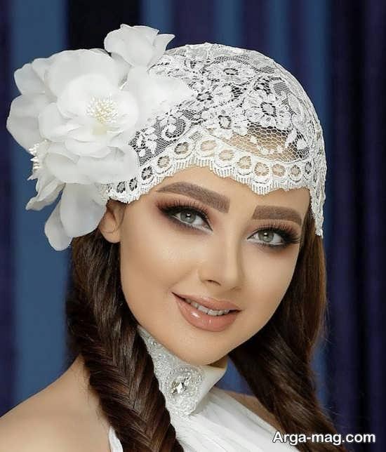توربان سفید برای عقد و عروسی