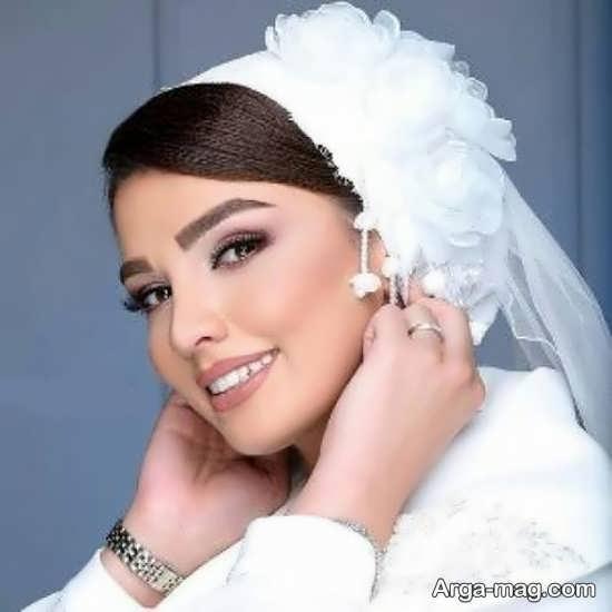 مدلی از لباس عروس با حجاب