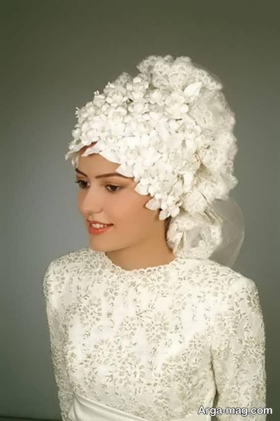 عکس کلاه حجاب عروس