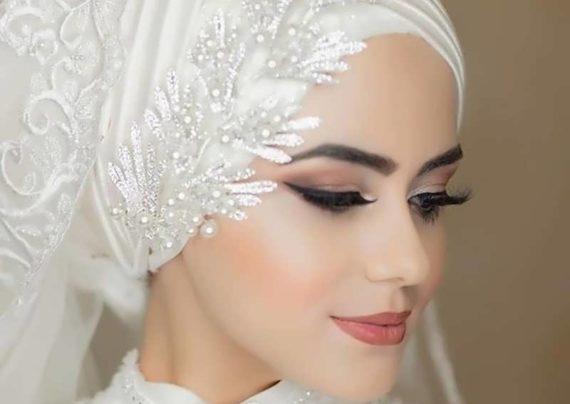 کلاه حجاب عروس برای مراسم عقد