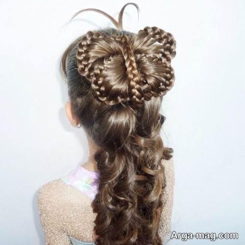 شینیون موی بلند پروانه ای