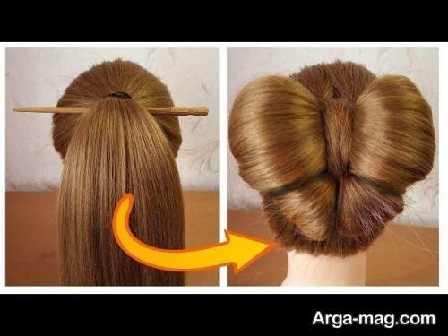 شینیون مو زیبا و جذاب پروانه ای