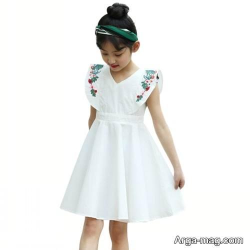 لباس سفید بچه کانه