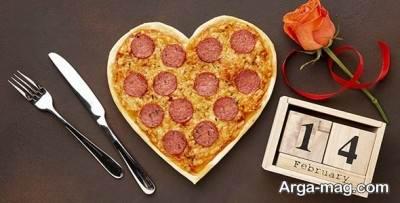 طرز تهیه پیتزا قلبی برای ولنتاین