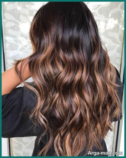 مدل رنگ موی کاراملی تیره