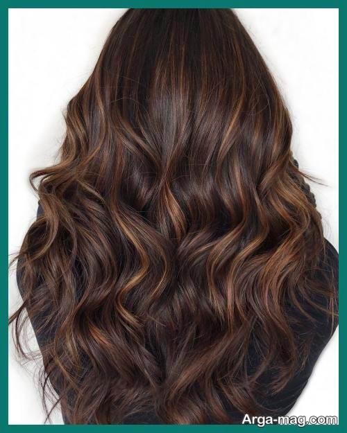 مدل رنگ موی کاراملی