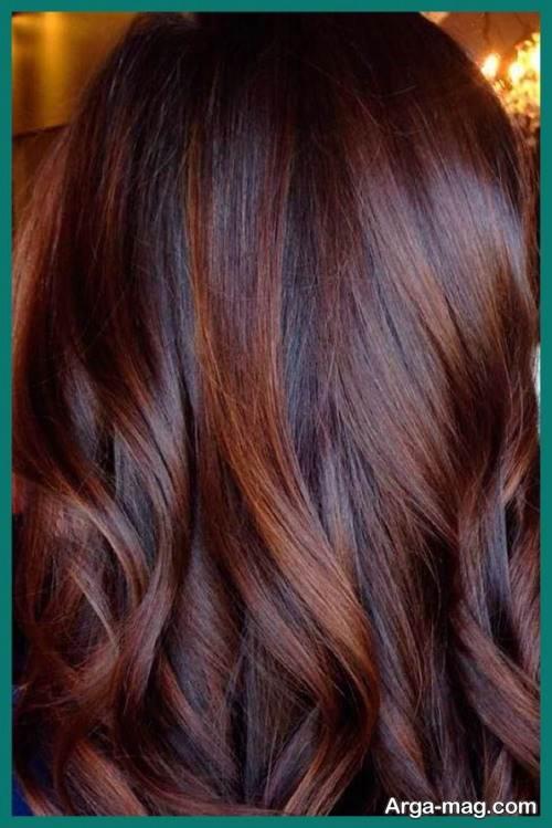 رنگ مو تیره کاراملی