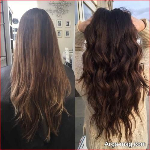 مدل رنگ مو کاراملی تیره و زیبا
