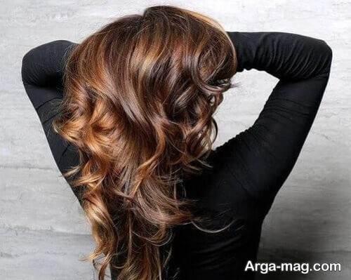 مدل رنگ مو کاراملی