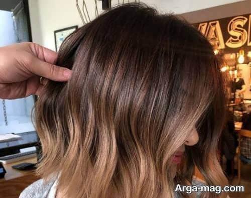 رنگ موی زنانه کاراملی