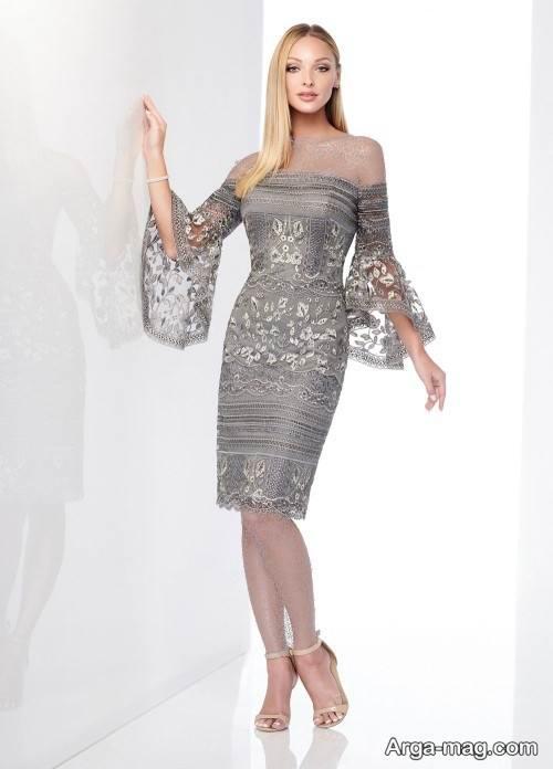 لباس دکلته طوسی