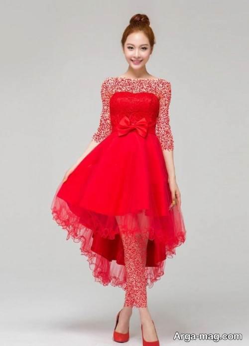 لباس دکلته قرمز
