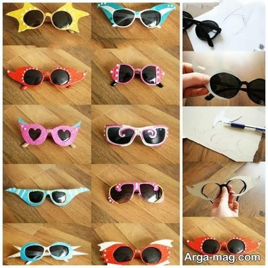 تزیین عینک برای خانوم ها