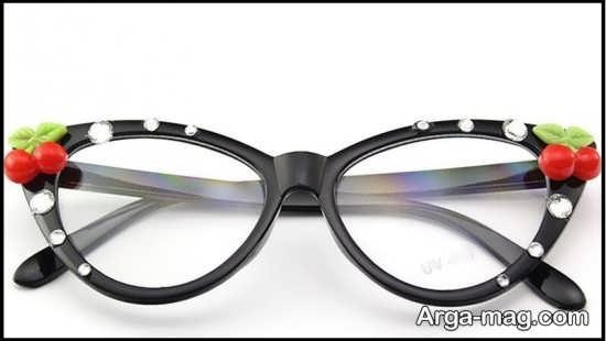 تزیینات زیبا برای عینک طبی