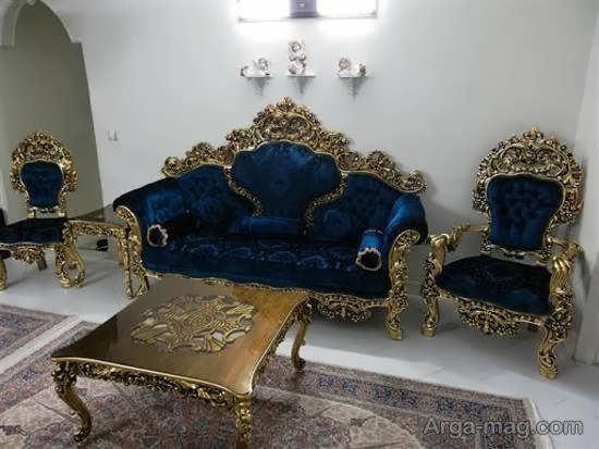 انواع مدل مبل مصری زیبا و مجلل برای دیزاین منزل های اشرافی
