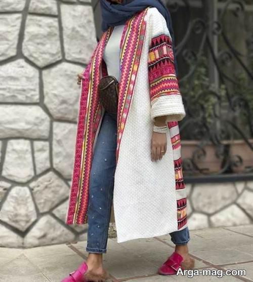مانتوی رنگی زنانه برای عید 99