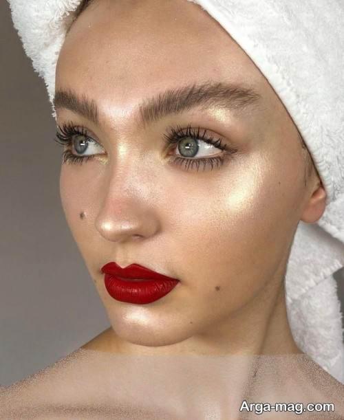 آرایش صورت زنانه اروپایی