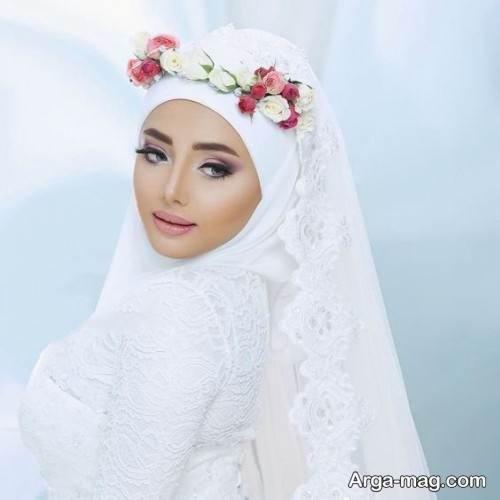 آرایش صورت عروس با حجاب
