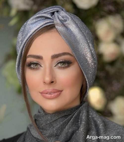 آرایش صورت با حجاب زنانه