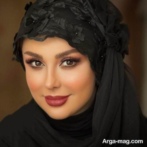 مدل میکاپ صورت با حجاب