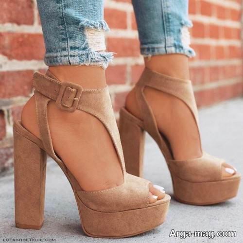 مدل کفش پاشنه پهن دخترانه