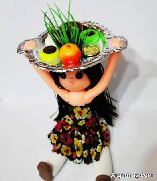 سفره هفت سین تزیین شده با عروسک