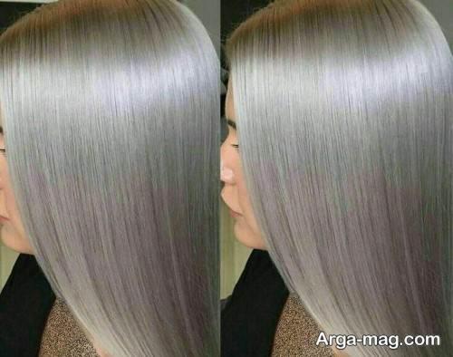 رنگ موی بلوند نقره ای