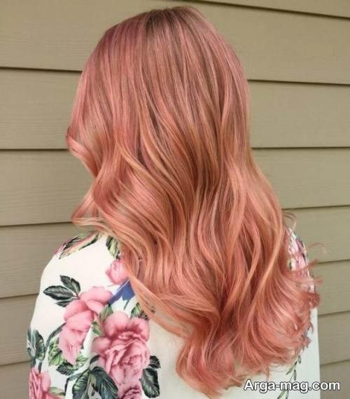 رنگ موی هلویی