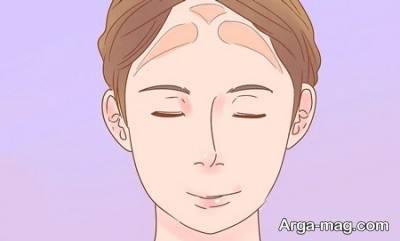 نحوه آرایش صورت برای افراد با پیشانی بلند