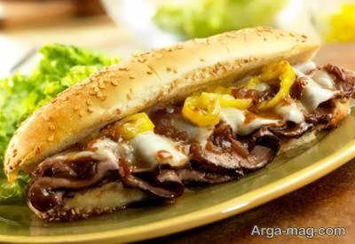 طرز تهیه ساندویچ رست بیف عالی و متنوع در طعم