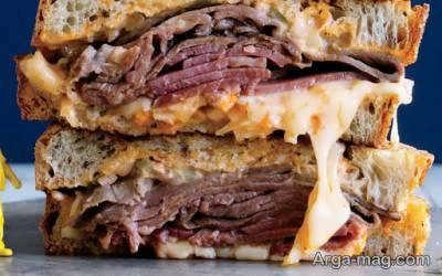 روش تهیه ساندویچ رست بیف خوش طعم و خوشمزه