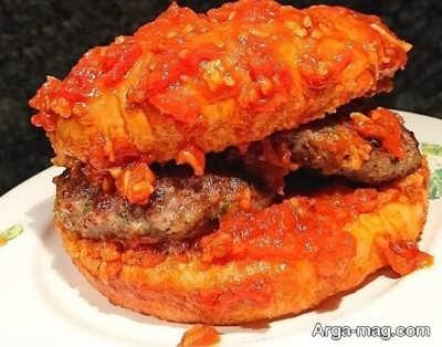 نحوه تهیه همبرگر خیس